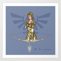 legend of zelda Art Prints featuring Zelda by MythicPhoenix