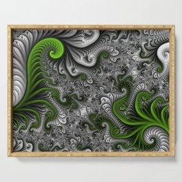 Fantasy World, abstract Fractal Art Serving Tray