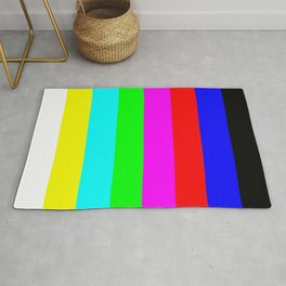 SMPTE color bars   TV Color Test Bars   Stand By Colour Bars Rug