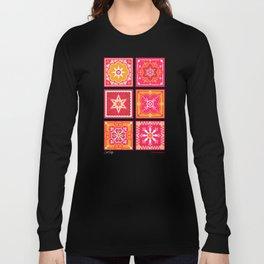 Talavera Mexican Tile – Hot Pink & Orange Palette Long Sleeve T-shirt