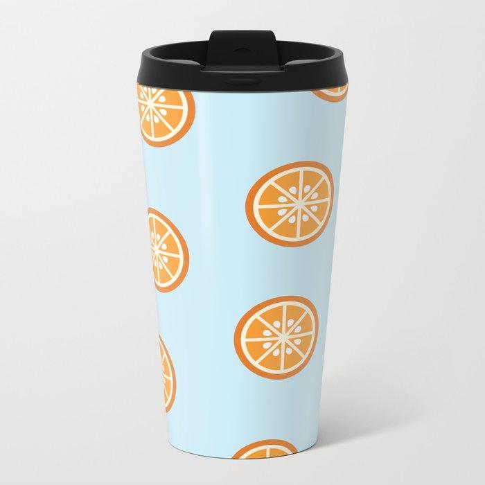 Bleu comme une orange Metal Travel Mug