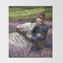 Man the White Wolf Throw Blanket
