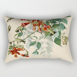 Vintage Hummingbird Illustration - Birds of America Rectangular Pillow