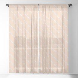 peach diagonal bunting Sheer Curtain