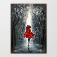 red riding hood Canvas Prints featuring Little Red Riding Hood by Annya Kai