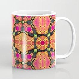 Soulful Stained Glass Celtic Cross Boho Glow Coffee Mug