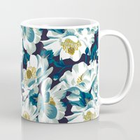 cook Mugs featuring Mount Cook Lily (Night) by Andrea Stark