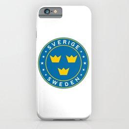 Sweden, Sverige, 3 crowns, circle iPhone Case