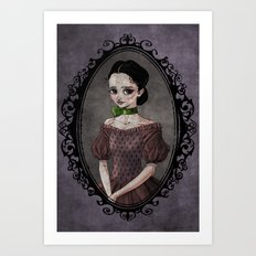 Girl with the Green Ribbon Art Print