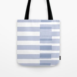 Big Stripes in Light Blue Tote Bag