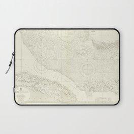 Vintage Map Print - Admiralty Chart No 2009 The Great Bahama Bank Sheet II, 1931 Laptop Sleeve