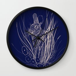 Marsh Rabbit Wall Clock