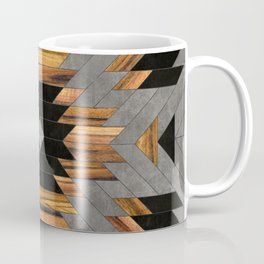 Urban Tribal Pattern 6 - Aztec - Concrete and Wood Coffee Mug