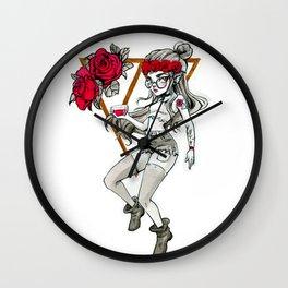 Hipster Vampire Wall Clock