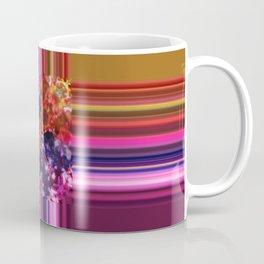 Purplish-Red and Gold Colorblock Abstract Coffee Mug