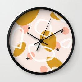 Abstract Fall III #society6 #abstractart Wall Clock