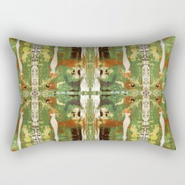 Out there in the woods, I feel peace........ Rectangular Pillow