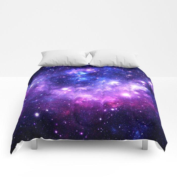 Purple Blue Galaxy Nebula Comforters