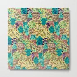 Pineapples Pattern Cute 281 Metal Print