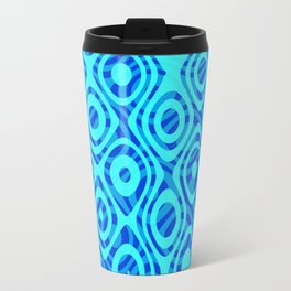 Mixed Polyps Blue - Coral Reef Series 036 Travel Mug
