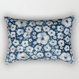 Mood indigo ditsy floral Rectangular Pillow