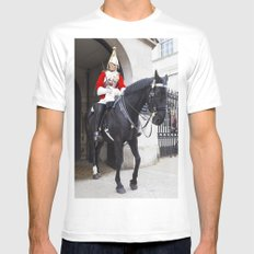 Household Cavalry Changing Of The Guard MEDIUM White Mens Fitted Tee