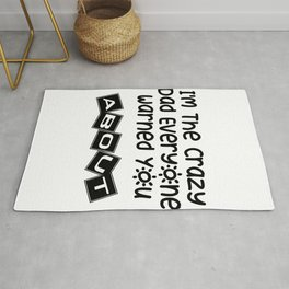 Crazy Dad Father Day Gift Rug