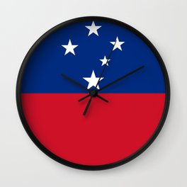 National flag of Samoa - Authentic version scale and color Wall Clock