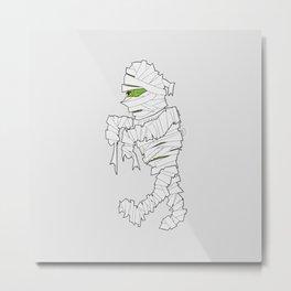 Retro Mummy Cartoon Metal Print