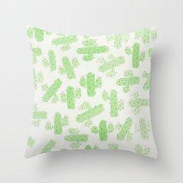 Watercolor Cactus Art Throw Pillow