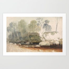 "J.M.W. Turner ""On the Washburn: A Study"" Art Print"