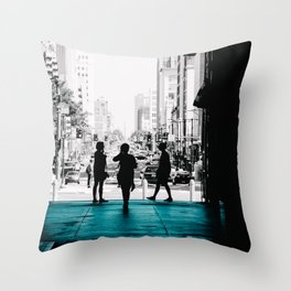 Strangers in the City Throw Pillow