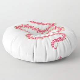 Pink & Gold Serpent Floor Pillow