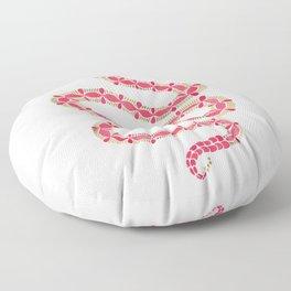 Pink & Gold Serpent Floor Pillow