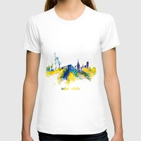 new york skyline T-shirts featuring New York City Skyline  by jbjart