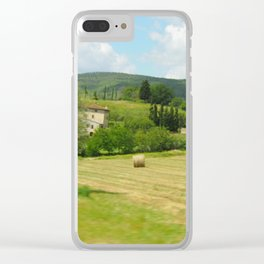 Italian Countryside Clear iPhone Case