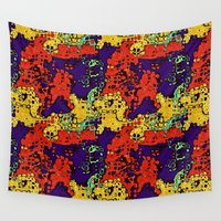 wildlife Wall Tapestries featuring Alien Wildlife by Gene S Morgan