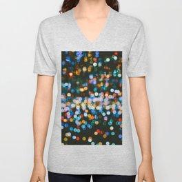 The Blurred Lights (Color) Unisex V-Neck