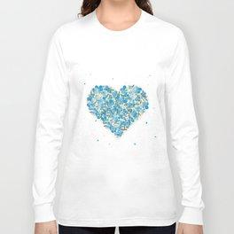 forget-me-nots heart Long Sleeve T-shirt