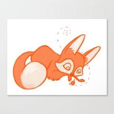 Curious Fox Canvas Print