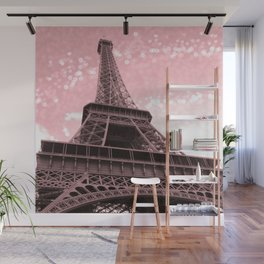 Paris Pink Eiffel Tower Wall Mural