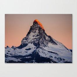 Matterhorn during sunrise Canvas Print