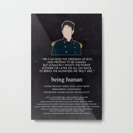 Being Human - Hal Yorke (Soldier edition) Metal Print