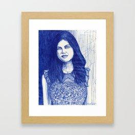 Alexandra Daddario Framed Art Print