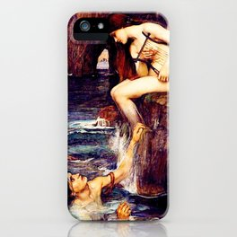 The Siren by John William Waterhouse - Vintage Painting iPhone Case