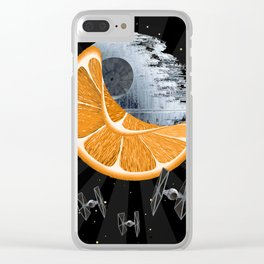Orange Star Clear iPhone Case