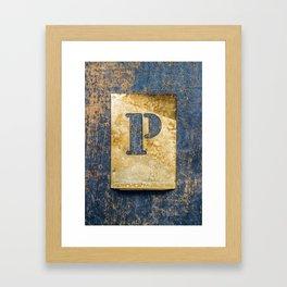 Letter P Framed Art Print