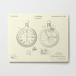 Stop Watch-1886 Metal Print