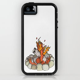 Round the Campfire iPhone Case