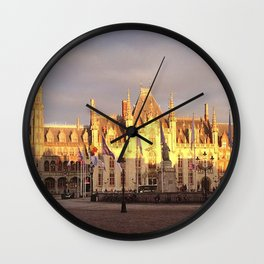The Provincial Court of Bruges Wall Clock